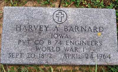 BARNARD, HARVEY A. - Sioux County, Iowa | HARVEY A. BARNARD