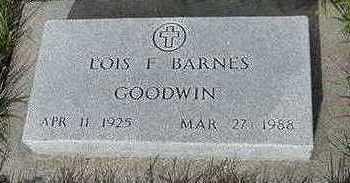 GOODWIN BARNES, LOIS F. - Sioux County, Iowa | LOIS F. GOODWIN BARNES
