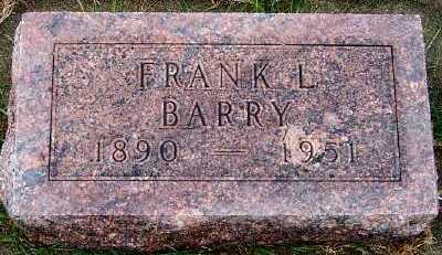 BARRY, FRANK L. - Sioux County, Iowa | FRANK L. BARRY
