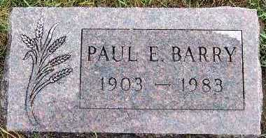 BARRY, PAUL E. - Sioux County, Iowa | PAUL E. BARRY