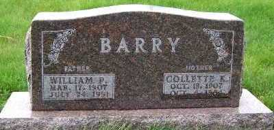 BARRY, WILLIAM P. - Sioux County, Iowa | WILLIAM P. BARRY