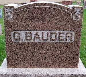 BAUDER,  G.  HEADSTONE - Sioux County, Iowa |  G.  HEADSTONE BAUDER