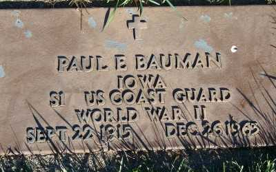 BAUMAN, PAUL E. - Sioux County, Iowa | PAUL E. BAUMAN