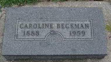 BECKMAN, CAROLINE - Sioux County, Iowa | CAROLINE BECKMAN