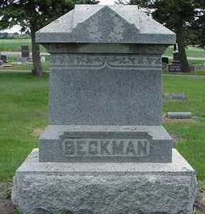 BECKMAN, HEADSTONE - Sioux County, Iowa | HEADSTONE BECKMAN