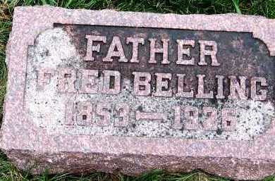 BELLING, FRED (1853-1926) - Sioux County, Iowa | FRED (1853-1926) BELLING