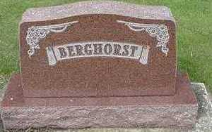 BERGHORST, HEADSTONE - Sioux County, Iowa | HEADSTONE BERGHORST