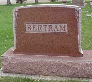 BERTRAM, HEADSTONE - Sioux County, Iowa | HEADSTONE BERTRAM