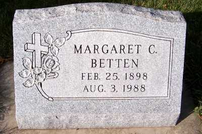 BETTEN, MARGARET C. - Sioux County, Iowa | MARGARET C. BETTEN