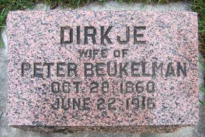 BEUKELMAN, DIRKJE (MRS. PETER) - Sioux County, Iowa | DIRKJE (MRS. PETER) BEUKELMAN