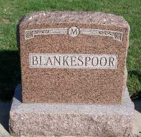 BLANKESPOOR, HEADSTONE - Sioux County, Iowa | HEADSTONE BLANKESPOOR