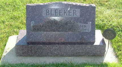 BLEEKER, WILLIAM - Sioux County, Iowa | WILLIAM BLEEKER
