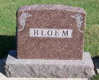 BLOEM, HEADSTONE - Sioux County, Iowa | HEADSTONE BLOEM