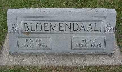 BLOEMENDAAL, RALPH - Sioux County, Iowa | RALPH BLOEMENDAAL