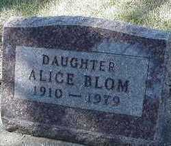 BLOM, ALICE - Sioux County, Iowa | ALICE BLOM