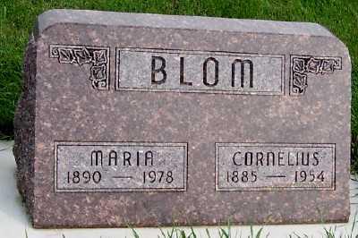 BLOM, CORNELIUS - Sioux County, Iowa | CORNELIUS BLOM