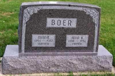 BOER, MINNIE - Sioux County, Iowa | MINNIE BOER