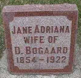 BOGAARD, JANE ADRIANA (MRS. D.) - Sioux County, Iowa | JANE ADRIANA (MRS. D.) BOGAARD