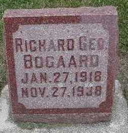 BOGAARD, RICHARD GEO. - Sioux County, Iowa | RICHARD GEO. BOGAARD