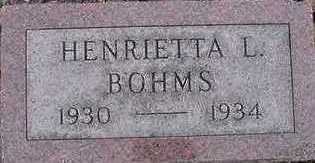 BOHMS, HENRIETTA L. - Sioux County, Iowa | HENRIETTA L. BOHMS
