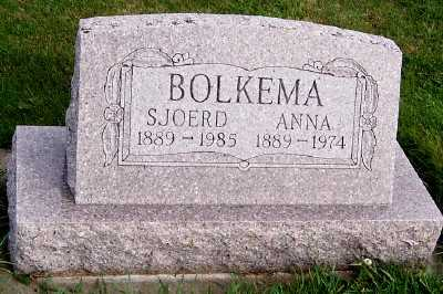 BOLKEMA, ANNA - Sioux County, Iowa | ANNA BOLKEMA