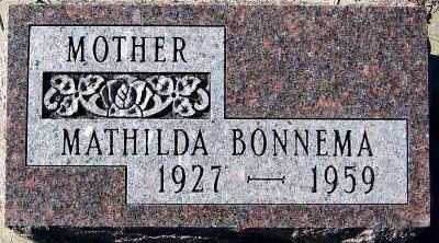 BONNEMA, MATHILDA - Sioux County, Iowa | MATHILDA BONNEMA