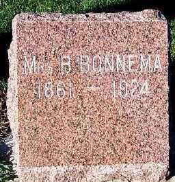 BONNEMA, MRS. B. - Sioux County, Iowa | MRS. B. BONNEMA
