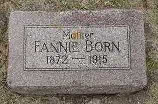 BORN, FANNIE - Sioux County, Iowa | FANNIE BORN