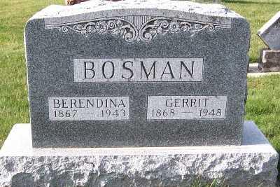 BOSMAN, GERRIT - Sioux County, Iowa | GERRIT BOSMAN