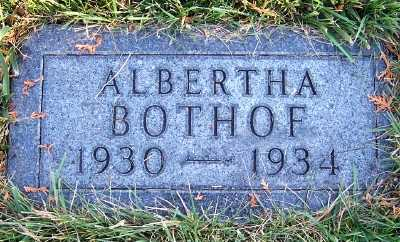 BOTHOF, ALBERTHA - Sioux County, Iowa | ALBERTHA BOTHOF