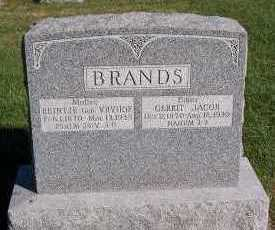 BRANDS, GERRIT JACOB - Sioux County, Iowa | GERRIT JACOB BRANDS