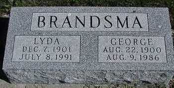 BRANDSMA, LYDIA (MRS. GEORGE) - Sioux County, Iowa | LYDIA (MRS. GEORGE) BRANDSMA