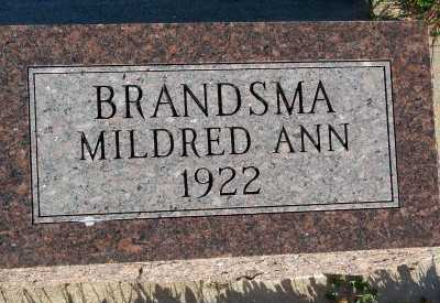 BRANDSMA, MILDRED ANN - Sioux County, Iowa | MILDRED ANN BRANDSMA