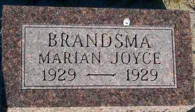 BRANDSMA, MARIAN JOYCE - Sioux County, Iowa | MARIAN JOYCE BRANDSMA
