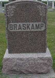 BRASKAMP, HEADSTONE - Sioux County, Iowa | HEADSTONE BRASKAMP
