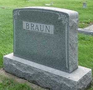 BRAUN, HEADSTONE - Sioux County, Iowa | HEADSTONE BRAUN