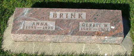 BRINK, ANNA (MRS. GERRIT W.) - Sioux County, Iowa | ANNA (MRS. GERRIT W.) BRINK