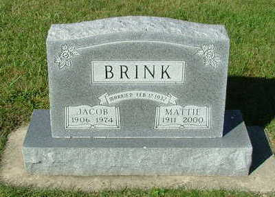 BRINK, MATTIE (MRS. JACOB) - Sioux County, Iowa | MATTIE (MRS. JACOB) BRINK