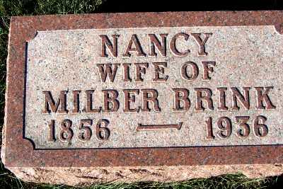 BRINK, NANCY (MRS. MILBER) - Sioux County, Iowa | NANCY (MRS. MILBER) BRINK