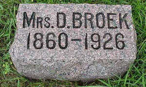 BROEK, D. MRS. - Sioux County, Iowa | D. MRS. BROEK