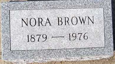 BROWN, NORA - Sioux County, Iowa | NORA BROWN