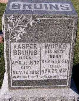BRUINS, WUPKE (MRS. KASPER) - Sioux County, Iowa | WUPKE (MRS. KASPER) BRUINS