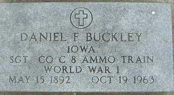 BUCKLEY, DANIEL F. - Sioux County, Iowa | DANIEL F. BUCKLEY