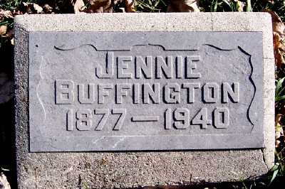 BUFFINGTON, JENNIE - Sioux County, Iowa | JENNIE BUFFINGTON