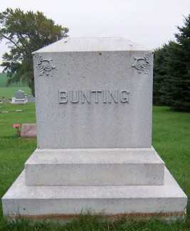 BUNTING, HEADSTONE - Sioux County, Iowa | HEADSTONE BUNTING