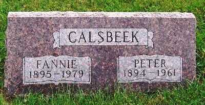 CALSBEEK, FANNIE - Sioux County, Iowa | FANNIE CALSBEEK