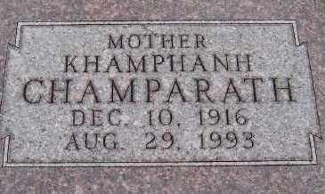 CHAMPARATH, KHAMPHANH - Sioux County, Iowa | KHAMPHANH CHAMPARATH