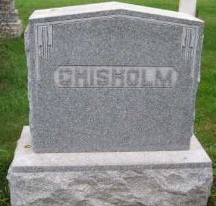 CHISHOLM, HEADSTONE - Sioux County, Iowa | HEADSTONE CHISHOLM