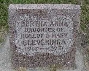 CLEVERINGA, BERTHA ANN - Sioux County, Iowa | BERTHA ANN CLEVERINGA
