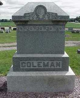 COLEMAN, HEADSTONE - Sioux County, Iowa | HEADSTONE COLEMAN